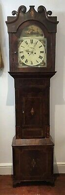 Impressive Grand Antique Gothic Style Mahogany Case Grandfather Clock