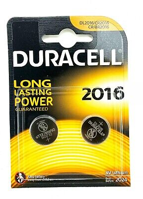 Duracell CR2016 3V Lithium Coin Cell Batteries DL2016 2016 (Pack of 2)