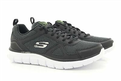 MENS SKECHERS TRACK Bucolo Trainers In Charcoal Lace