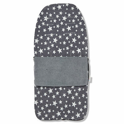 Snuggle Summer Footmuff for Out 'n' About Nipper 360 single - Grey Star
