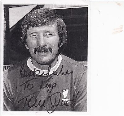 TOMMY SMITH M. B. E. Liverpool Football  Autograph SIGNED Original (personalised