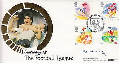 Tom Finney Centenary Of The Football League Autographed By Tom Finey