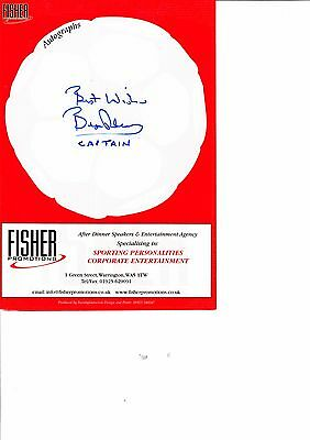 Bryan Robson Genuine Hand Signed Autograph Menu Manchester United