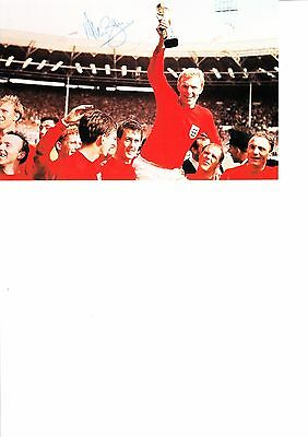 England 1966 World Cup 50th Anniversary Alan Ball Hand Signed Photo Card