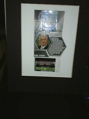 Sir Bobby Robson Hand Signed Mountet Piece Newcastle United 12 X 11 Inch