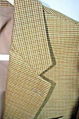 Ralph Lauren Lauren Mens 46L  Blazer Sports Coat tan plaid NWOT wool
