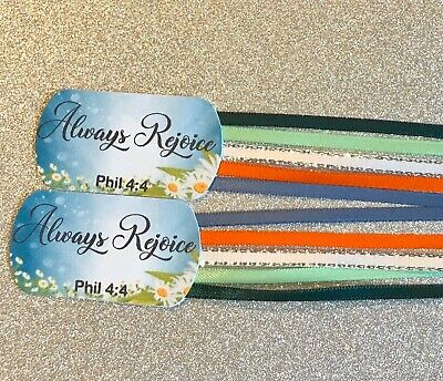 2 ALWAYS REJOICE 5 Ribbons bookmark Bibles 2020 Convention Theme Books Journal