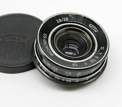 VTG LEICA M39 INDUSTAR 69 f 28mm 1:2.8 Pancake Lens Nice Retro Photo L39 ZX12