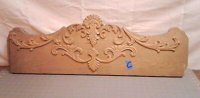 Antique Splash Back Applied Carvings Furniture Part for Oak Dresser 1900 Era