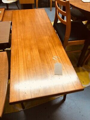 Danish Mid Century Modern Teak Long John Coffee Table 1960S Minimalist Style