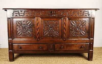 A Superb Early 18th Century Mule Chest.