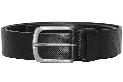 Hugo Men's Leather Belt Gesyl Black 50376643-001