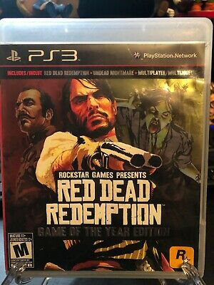 Red Dead Redemption -- Game of the Year Edition (Sony PlayStation 3, 2011) CIB