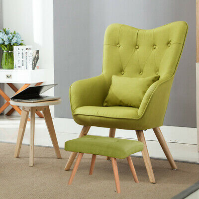 Fabric High Button Back Armchair Accent Chair for Office Living Room Bedroom NEW