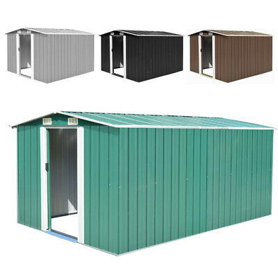 Garden Shed Metal Roof Building Storage Large Yard Store Tool Box Container Unit