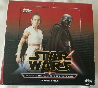 Star Wars The Rise Of Skywalker trading cards box