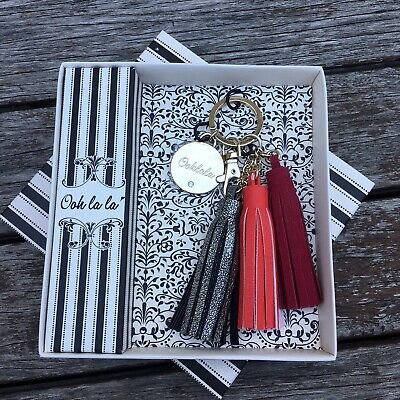 NWT Ooh La La Tassel Leather Keyring