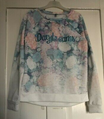 Benetton Girls Long Sleeved Top, pastel colours floral, 10/ 11 yrs - NWOT