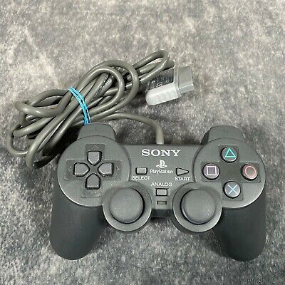 Official Sony PlayStation 1 PS1 Dark Grey DualShock Analog Controller SCPH-1200
