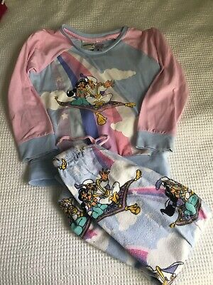 Peter Alexander Girls Long Sleeve Aladdin Pyjamas Size 4 Great Cond!