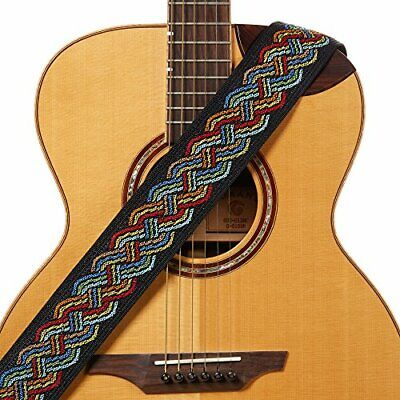 Celtic Knot Guitar Strap Multi Color Polyester for Acoustic Electric
