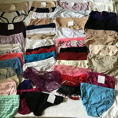 VTG Lot 50 Pc SECOND SKIN Panties Nylon Briefs Satin Sissy Various labels/sizess