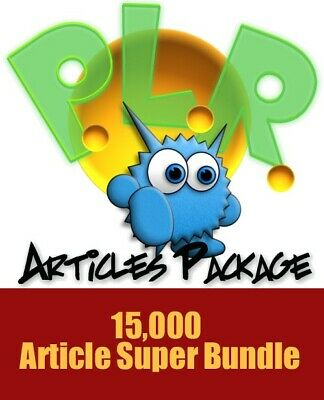 15,000 PLR Articles, PDF eBook with Master Resell Rights MRR
