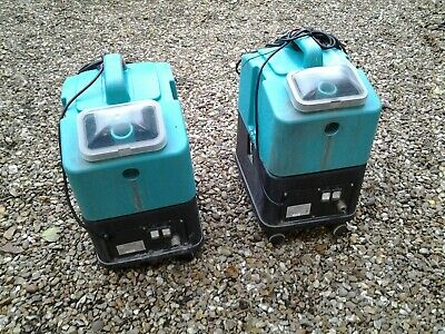 2 Deep Cleaning Carpet Extractors - No accessories / One is missing a wheel