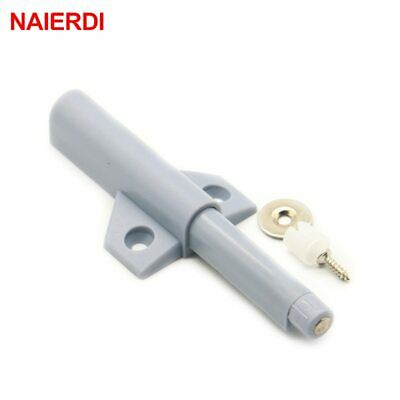 4PCS NAIERDI Cabinet Catches Handles Magnetic Door Stopper Drawer Closer Damper