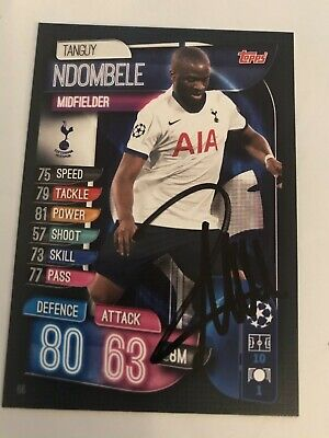 match attax 19/20 TANGUY NDOMBELE TOTTENHAM SIGNED AUTOGRAPHED 2