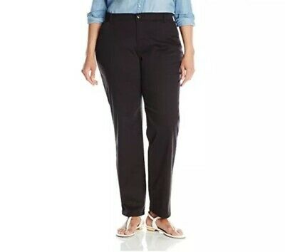 Lee Women's Plus-Size Relaxed-Fit All Day Pants Black 22W Medium Straight Leg