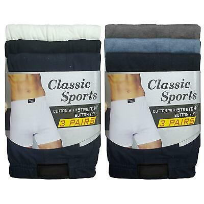 3 6 12 Pack Mens Classic Boxer Shorts Briefs Comfort Fit Jersey Underwear Pants