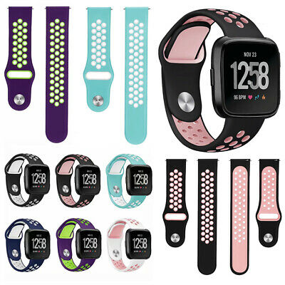 For Fitbit Versa Smart Bracelet Soft Silicone Replacement Wrist Band Watch Strap