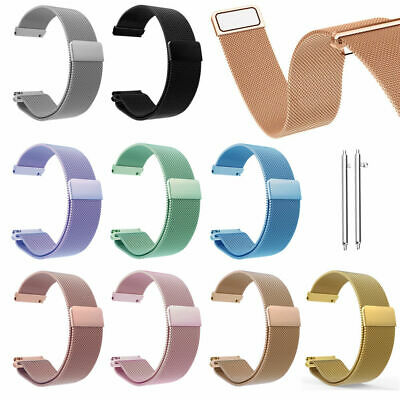 20mm Magnetic Milanese Loop Stainless Steel Watch Strap Band For Ticwatch E/2