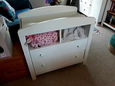 Baby Chest of Drawers with Changing Table removeable unit 3 Drawers Prince blue