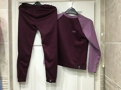 Trekmates Vapour Tech Long Sleeves Top & Long Johns Junior Set 7-9 yr old unisex
