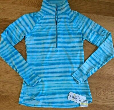 NWT Under Armour Women's Fly Fast 1/2 Zip Shirt SZ M ISLAND BLUE RUNNING