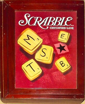 Vintage Game Collection Scrabble Library Bookshelf Book Wood Box 2005 NEVER USED