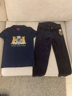 Girls Juicy Couture T Shirt And Joggers Age 8