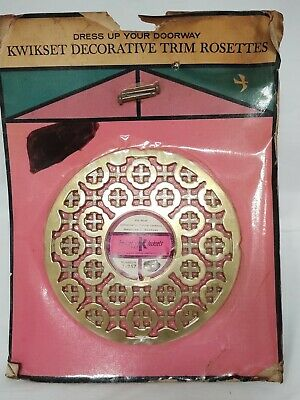 Vintage Kwikset Deadlock Adapter Doorplate Trim Rosette #262 Brass