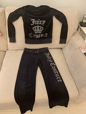 Girls Navy Juicy Couture Tracksuit Age 10