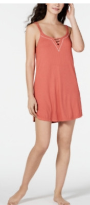 24$ Jenni Ladder Front Scoop-Neck Chemise Nightgown, Color: Cayenne