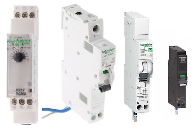 Assorted Packs of Schneider Contactors / Timers (RCCB, RCBO)