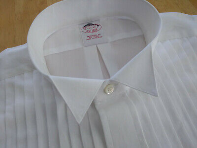 NWT Brooks Brothers White Formal Wing Collar Shirt 16.5-32 Traditional MSRP $135
