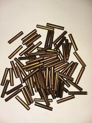 """50pcs Slotted Roll Spring Pin Nickel Plated 5/32"""" Dia x 7/8"""" Length, 50 pins Lot"""