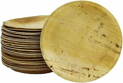 Disposable Palm Leaf Plates - 25 Pack - Compostable and Biodegradable Plates -