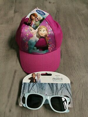 Girls Disney Frozen II Sunglasses & Cap Childrens Sun hat UV Protection kids 2