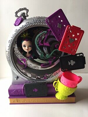 Ever After High Way Too Wonderland High and Raven Queen Doll Playset COMPLETE