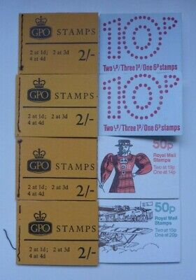 GB Folded Stamp Booklets - 8No. (All complete bar one and unmounted mint)