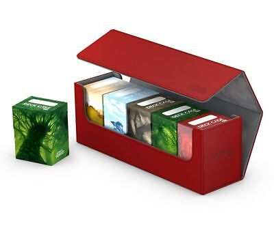 Ultimate Guard Flip Case Archive 400+ Xenoskin Red Card Box Deck Boxing Red